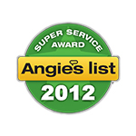 Angie's List 2012 Super Service Award